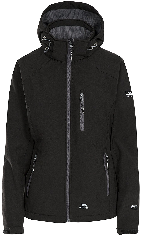 Coat Trespass Womens Tarron Shell Windproof Waterproof Jacket
