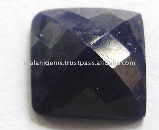 Dyed Blue Sapphire Square Rose Cut Loose Gemstone