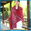 red oversized size 70x180cm paisley shoulder scarf shawl