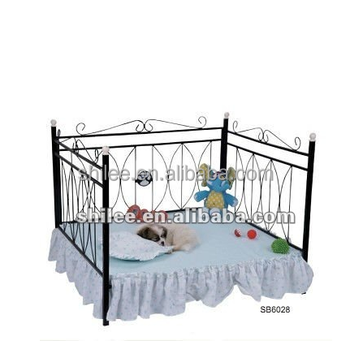 Iron steel base luxury pet bed with mat