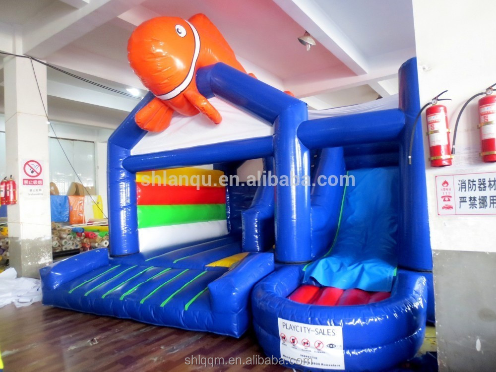 cartoon fish inflatable bouncer/inflatable jumping house