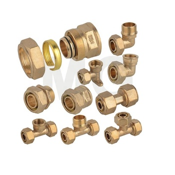 MG-G16 type of natur gas pex-al-pex plastic gas pipe brass insert compress fitting thread quick connect gas hose pipe fitting