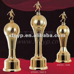 Metal Big Cup Footable Trophy Awards, Sports Trophy Cup