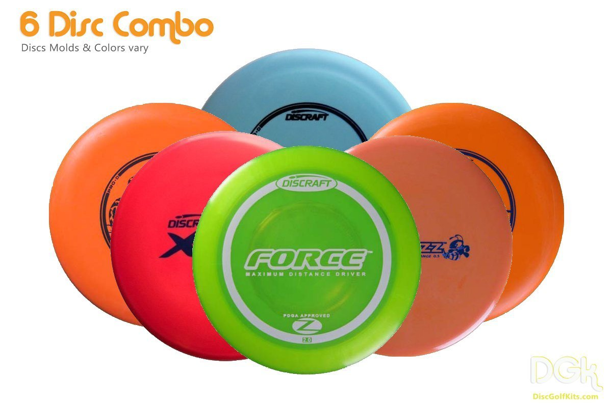 Disc Golf Starter Pack | The Perfect Starter Set includes Discraft Distance Disc Golf Drivers, mid range golf disc, and multiple putter golf discs |Learn how to play with this starter kit!