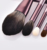Luxurious 12  piece small grape superfine hair 0.06mm microcrystalline silk champagne brush set