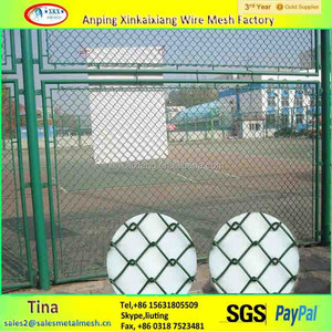 Cheap Decorative Removable iron Used 5 foot Roll Discount Chain Link Fence Direct Factory