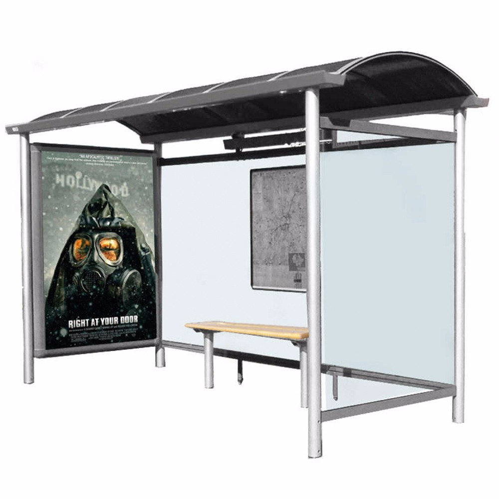 product-YEROO-Modern Customized Metal Bus Shelter Stainless Steel Bus Stop-img