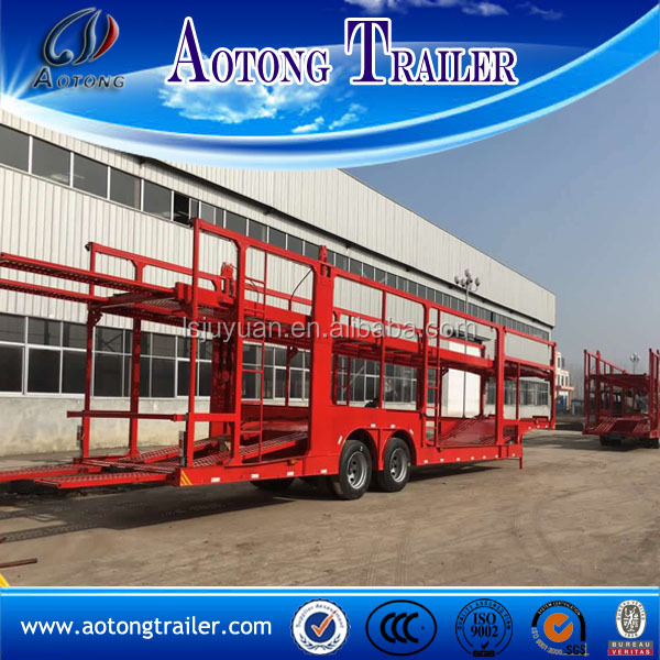 Tri-axle 10 Units Car Hauler Trailer For Sale Use High Tensile