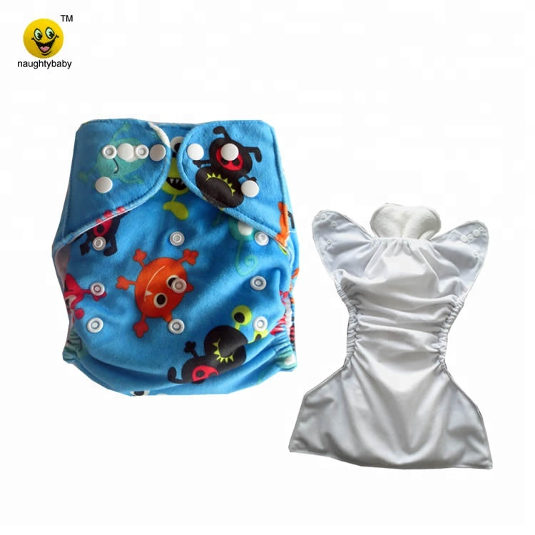 Naughtybaby reusable MINKY printed pocket cloth nappy Eco friendly MINKEE modern diaper cover waterproof pants