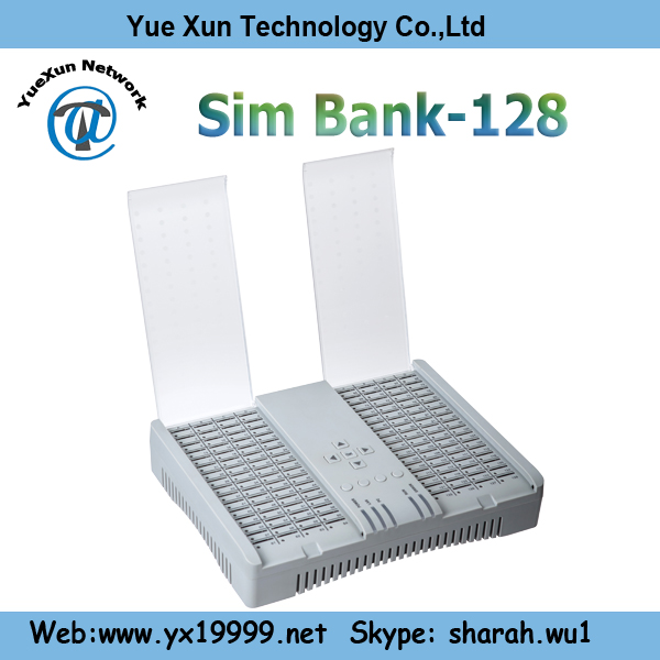 128 sim bank avoid sim blocking and control voip gsm gateway remotely