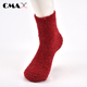Fashion indoor floor plain color women sock super soft warm adults red fluffy cozy comfy fuzzy socks