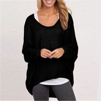 ZH01824B Crew Neck Pullover 100% Cashmere Sweater Womens