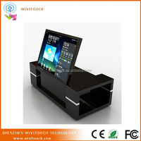 42inch black liftable panel touch foil table kiosk