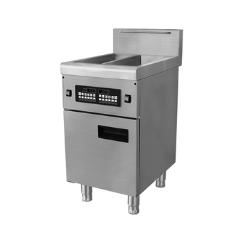 Commercial chicken wing induction fryer, commercial chicken double fryer machine for sale