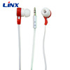 Fashion flat cable OEM earphone handsfree for all smartphone