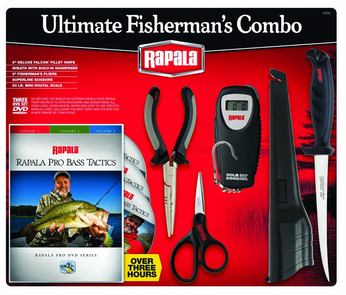 Rapala Ultimate Fisherman Combo with 6-Inch Fillet Knife, Scissors, Scale and 6-Inch Plier