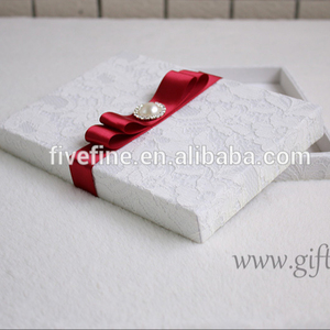 Wholesale Wedding Invitations Favor Gift Box with ribbon