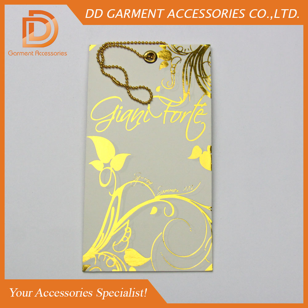 custom brand logo print website paper hangtag with metal eyelet