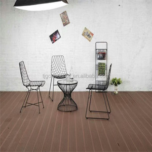 United States style Garden seating Metal plate Net Bend Wire Lucy Dining Chair