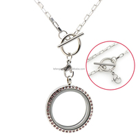 New memory silver 316l stainless steel rectangle necklaces with toggle clasp chains wholesales