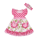New Stripe Dress For Children Wholesale Kids Girls Summer Pocket Dress With Headbands