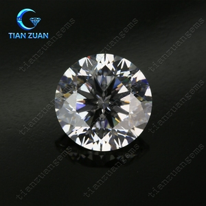 6A quality White round rose cut Cubic Zirconia Synthetic Diamond cz stone