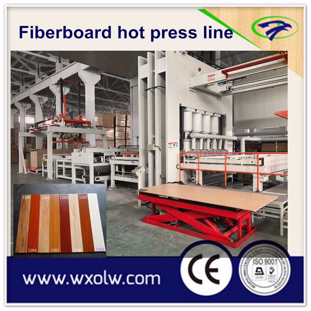 German technology melamine paper laminating Mdf board/furniture board hot press machine