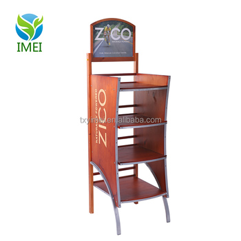 Commercial Wine display stand / MDF four side Beer retail display rack