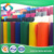 Needle punched nonwoven hard and soft polyester felt