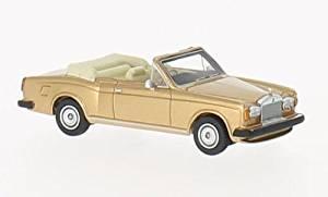 Rolls Royce Corniche Convertible, gold, RHD, 1974, Model Car, Ready-made, BoS-Models 1:87