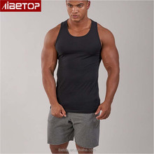 Custom private label compression supplex sports sleeveless t shirt yoga fitness wear for men