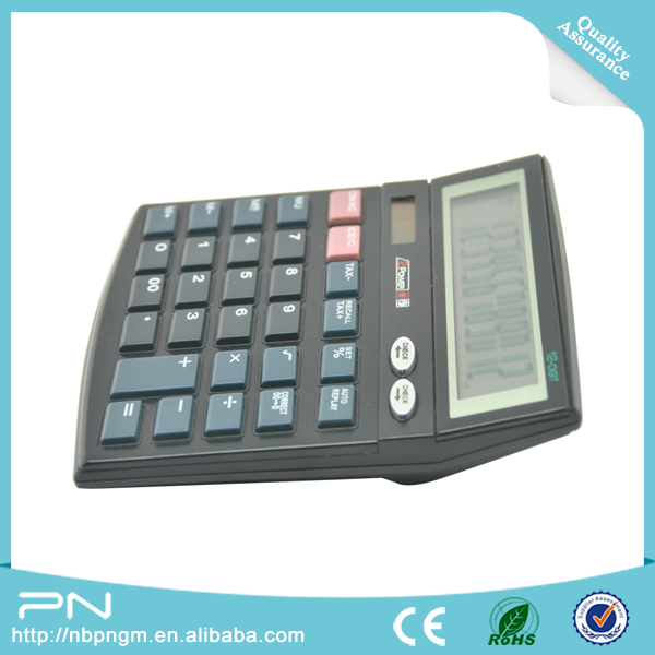 12 Digits Two Way Power Business Desk Financial Calculator