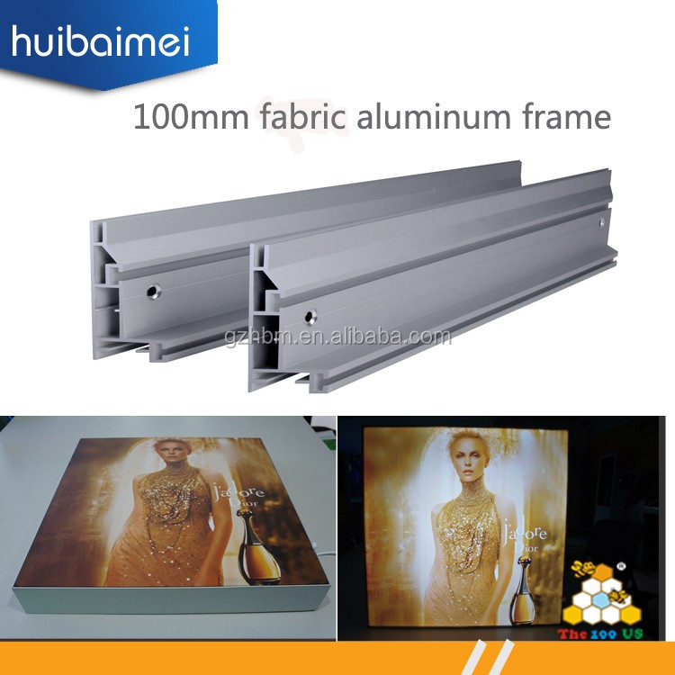Hotsale Aluminio Extruido Stoff Lightbox Extrusion Rahmenlose Stoff ...