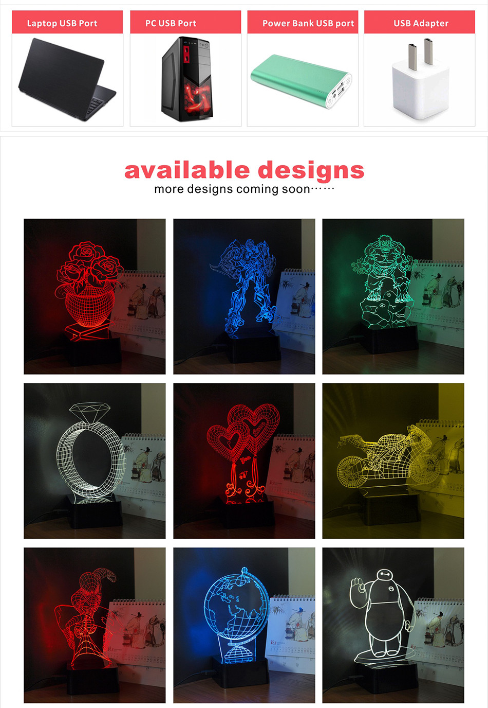 iron Man Seven Colors LED RGB Table Lamp Christmas Light  (6)