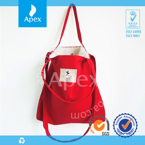 China supplier customized shopping canvas tote bag
