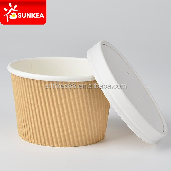 Paper heat resistant insulated small soup serving bowl