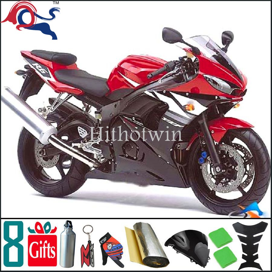 2003 2004 2005 YZFR6 For yamaha red and black Fairing Bodywork Kit Fit For yamaha YZF R6 2003 2005 R6S 2006 2009 26