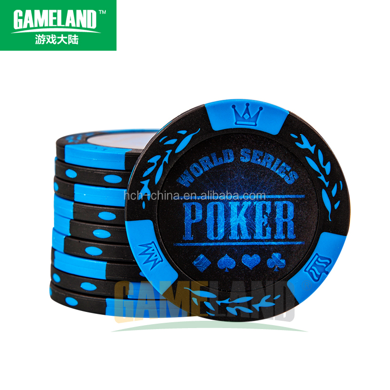 Wholesale 14g Two Tone Clay Composite Custom Poker Chips