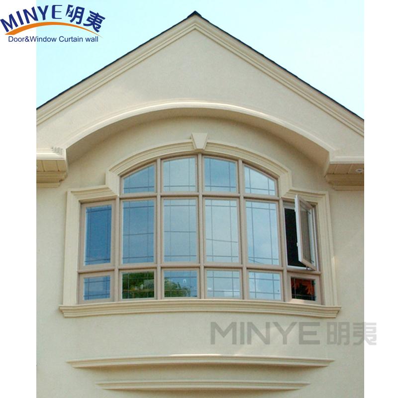 Russian Style Vinyl Bay Window Garden Style Upvc Frame Casement