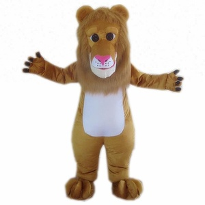 Competitive advantage mascot costume lion for adult life size walking animal lion mascot costume