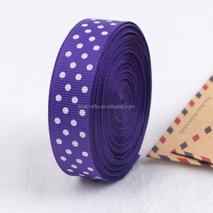 Purple dot grosgrain ribbon
