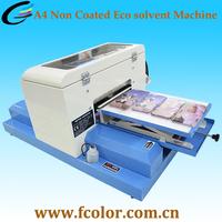 A4 Small Size Eco solvent Ink Machine Mini Flatbed Printer