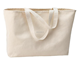 Oversized Twill Cotton Tote Bag for Shopping