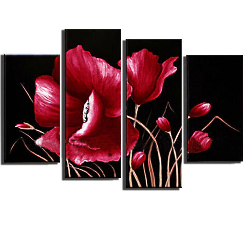 Modern Canvas Art Red