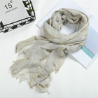 Fashion Scarf Factory China Plain Wholesale Cotton Printed Scarves Muslim Women Head Hijab Tassel Cotton