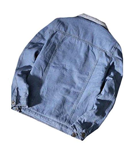 Vente en gros Cool streetwear mode hommes softshell coupe-vent jean personnalisé denim polaire veste