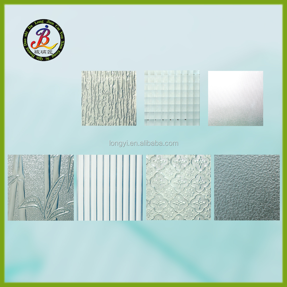 popular 4mm various decorative patterned glass