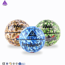 Lenwave brand basketball in bulk colorful pu leather custom game basketball ball