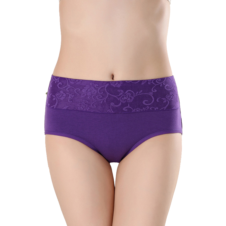 Factory direct selling jacquard sexy hot women underwear middle waist breathable cotton ladies panties