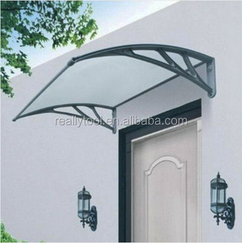 Front door canopy porch rain protector awning lean-to roof shelter different size & Front Door Canopy Porch Rain Protector Awning Lean-to Roof Shelter ...